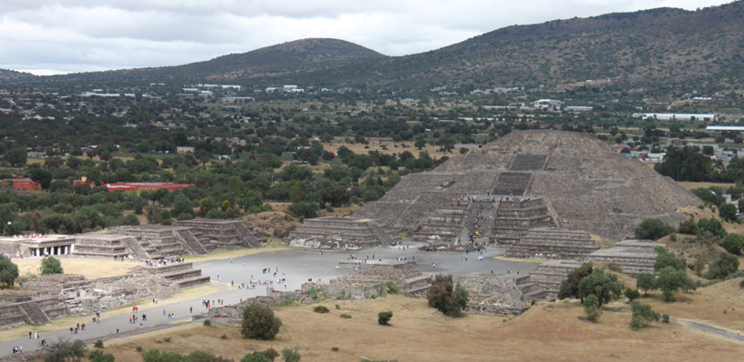 Pyramid of the Moon and Avenue of the Dead, Teotihuacan, Mexico